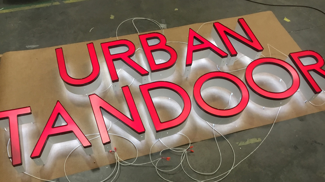Urban Tandoor building sign getting ready for shipment to new location