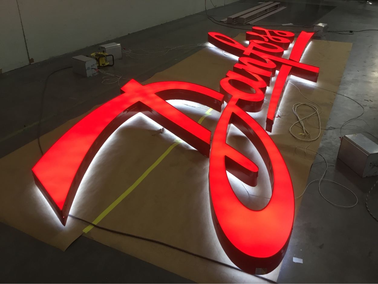 Danfoss building sign getting ready for shipment to new location