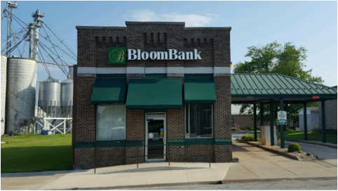 Outside building view of BloomBank drive-thru location