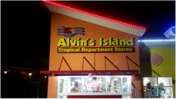 Outside building view of Alvin's Island Tropical department store